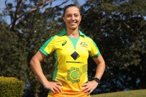 Aboriginal-inspired uniform the Australian Women's team will wear for their T20I clash v England on 1 Feb 2020.