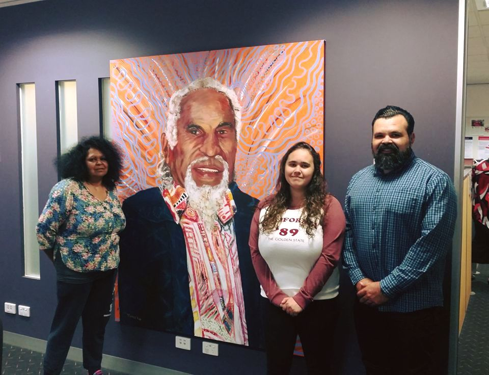 Banjo Clarke Painting for Dept of Human Services Warrnambool